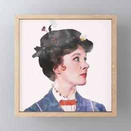 Mary Poppins - Watercolor Framed Mini Art Print
