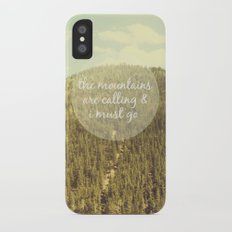 The Mountains are Calling Slim Case iPhone X