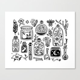 The Tiny Witch Gallery Canvas Print