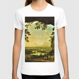 Italian Landscape with an Ancient Festival by Jakob Philipp Hackert T-shirt