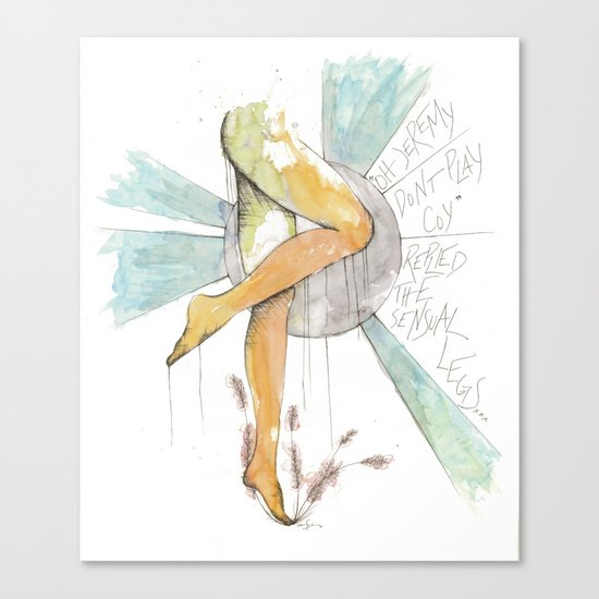 Coy Gams Canvas Print