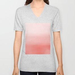 Creamy Coral | Pastel Ombre Unisex V-Neck