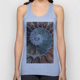 Spiral Ammonite Fossil Unisex Tank Top