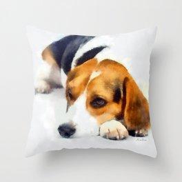 Beagle Bailey Throw Pillow