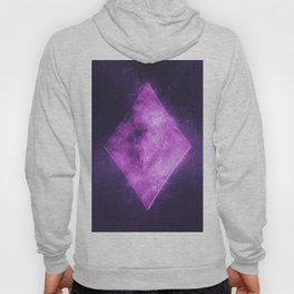 Diamond symbol. Playing card. Abstract night sky background Hoody
