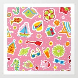 Summer Fun Pink Art Print