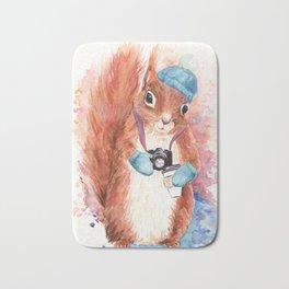 Winter Squirrel Bath Mat