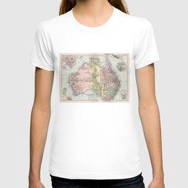 Vintage Map of Australia (1891) T-shirt