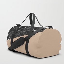 Black Marble and Hazelnut Color Duffle Bag