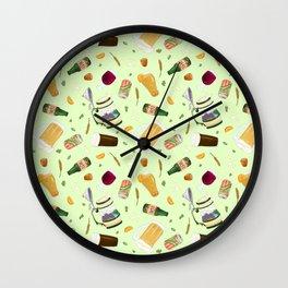 Cute Beer Pattern Wall Clock
