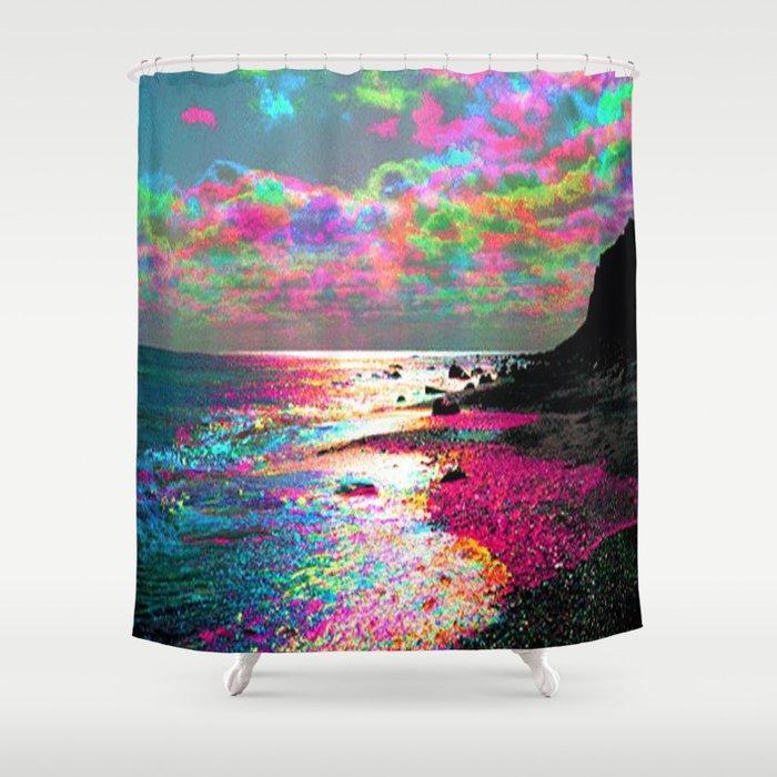 Trippy Serenity Ocean Shower Curtain by skrrrttt | Society6