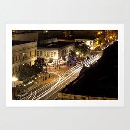 Speed of the Night Art Print