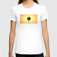 palm tree T-shirts featuring Palm Tree by Derek Fleener