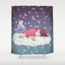 Hibernation Cloud Shower Curtain