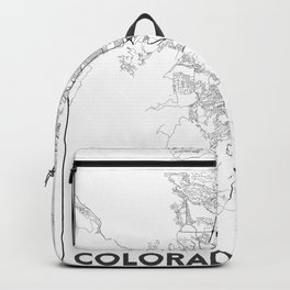 Minimal City Maps - Map Of Colorado Springs, Colorado, United States Backpack
