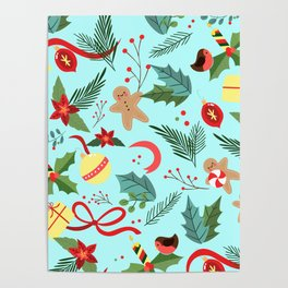 Christmas Pattern 6 Poster
