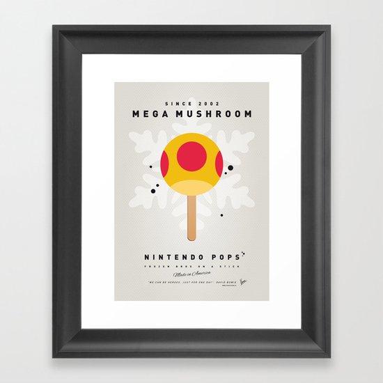 My NINTENDO ICE POP - Mega Mushroom Framed Art Print