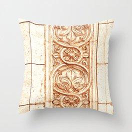 carved stonework Throw Pillow