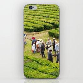 Tea gardens iPhone Skin