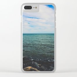 Looking out at the sea Clear iPhone Case