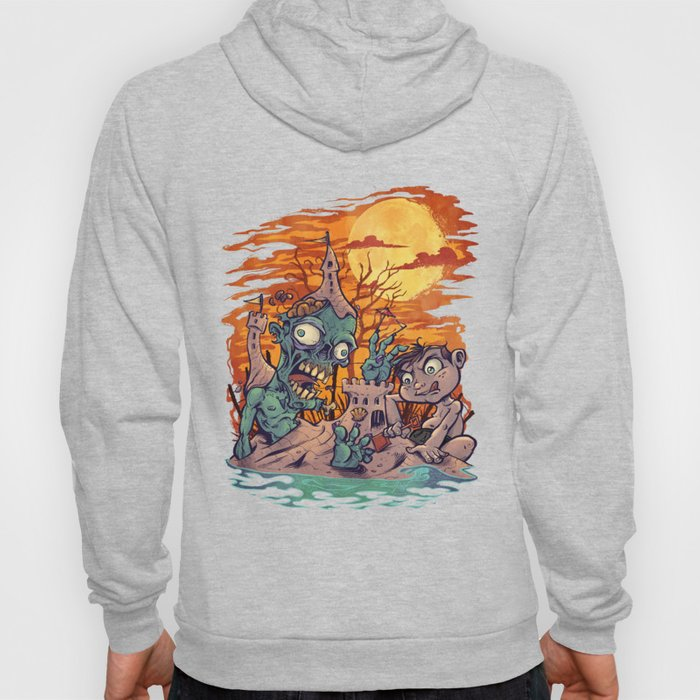 Zombie At The Beach  Hoody