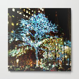 Holiday lights, Rockefeller Center, New York City, New York Metal Print