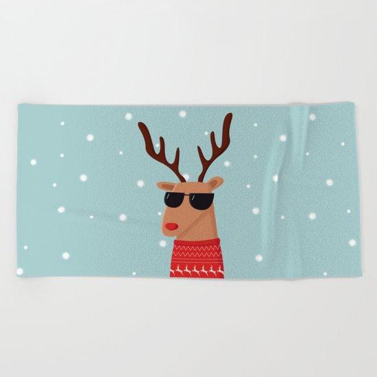 Merry Christmas Dude Beach Towel
