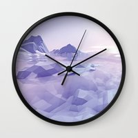 low poly Wall Clocks featuring Low Poly Art by NewLineGraphics