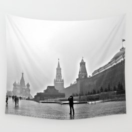 Red Square Wall Tapestry
