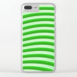 Green abstract lines Clear iPhone Case