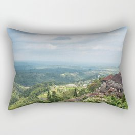 House on a Hill in Bali Rectangular Pillow