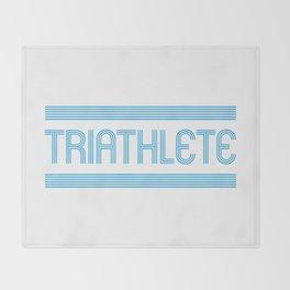 Triathlete Throw Blanket