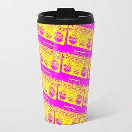 Boombox Pattern Travel Mug