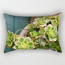 Summer Succulents Rectangular Pillow