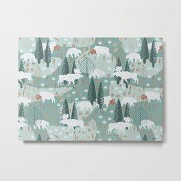 Yellowstone (Moss) Metal Print