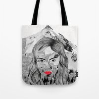 cara Tote Bags featuring Cara by Veronique de Jong