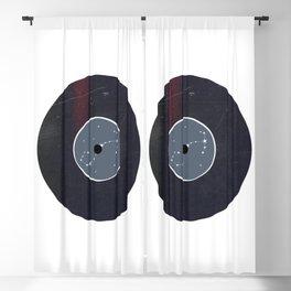 Vinyl Record Zodiac Sign Scorpio Blackout Curtain