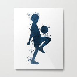 Football Player Metal Print
