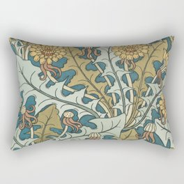 Art Nouveau Dandelion Pattern Rectangular Pillow