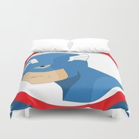 steve rogers Duvet Covers featuring S Rogers by Photogonos