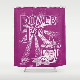 Power Jam graphic Shower Curtain