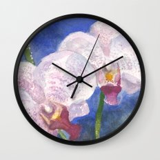 Orchid Gaze Wall Clock