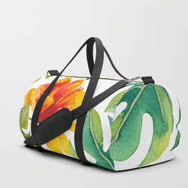 Monstera And Hibiscus Duffle Bag