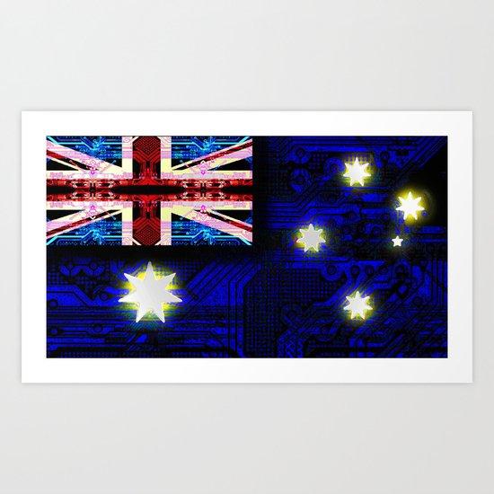 circuit board australia (flag) Art Print