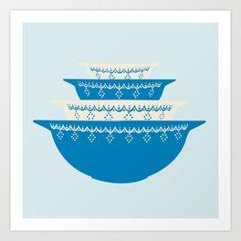 Snowflake Garland Pyrex Art Print