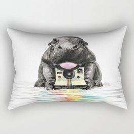 Baby Hippo Rectangular Pillow