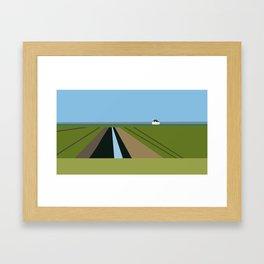 Canary Cottage Framed Art Print