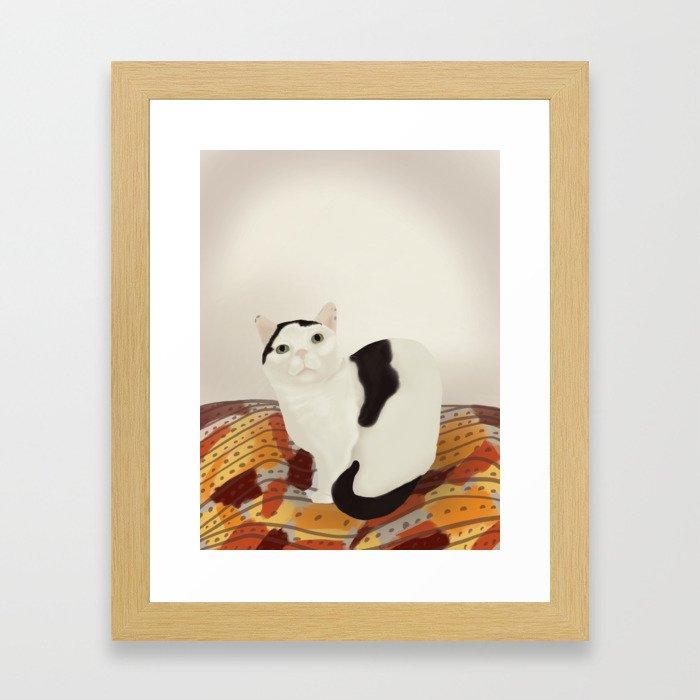 Cows the Cat Framed Art Print