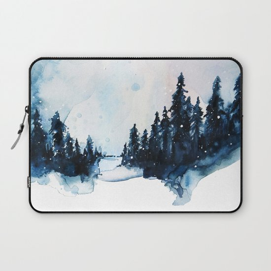 Winter Watercolor Laptop Sleeve