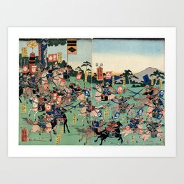 Battle of Kawanakajima Art Print